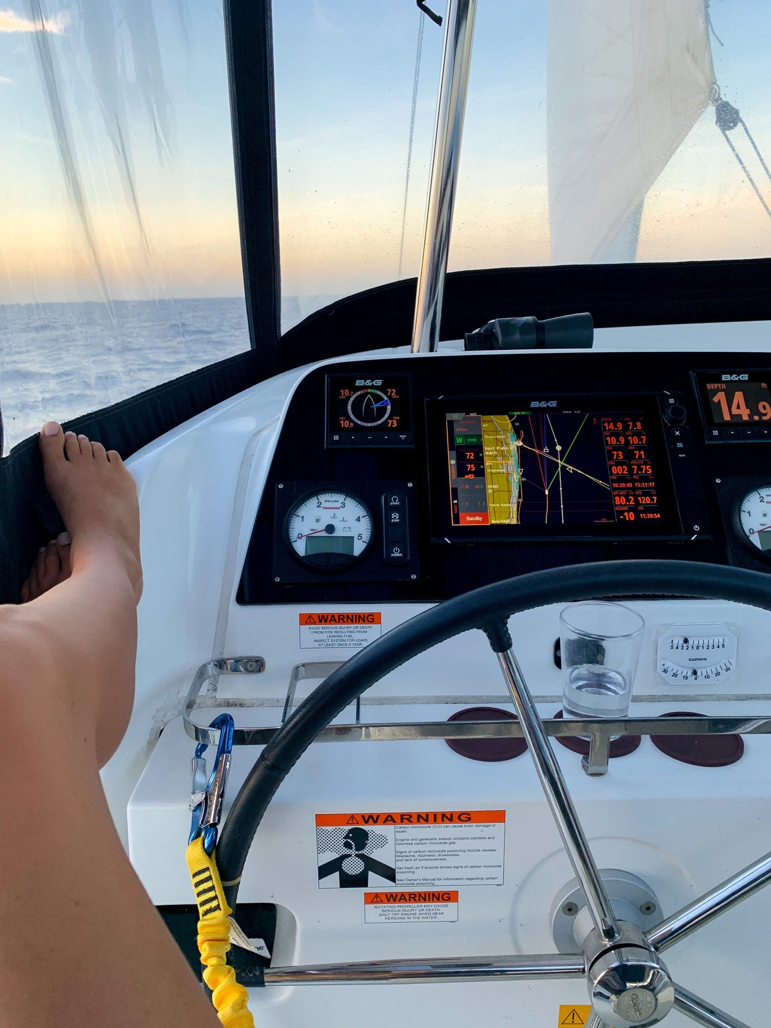 Our Overnight Sail to Cape Canaveral… Let the boat work begin!